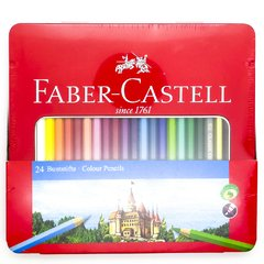 LAPIZ COLOR FABER LATA X 24