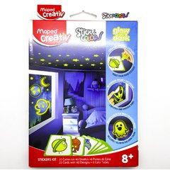 KIT MAPED STICK COLOR 5 y 1 GLOW IN DARK
