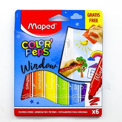 MARCADOR MAPED COLOR PEPS WINDOW X6