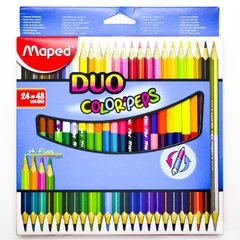 LAPICES BICOLOR MAPED DUO X24=48COL