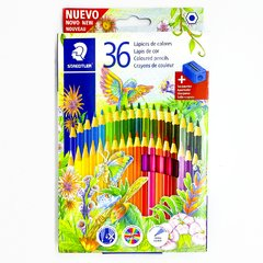LAPIZ COLOR STAEDTLER X 36 LARGOS y SAC