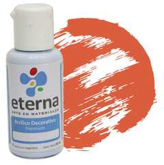 ACRILICO ETERNA DEC NARANJA FLUO 50ML