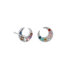 Aros moon colorful Plata