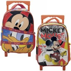 Mochila C/carro 12´ Ideal Jardin Infantil Mickey