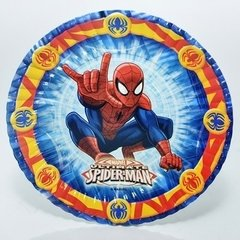 Platos Spiderman - 4 Pack  X 10 U C/u  Cotillon