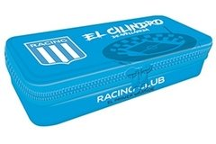 Cartuchera Metalica Con Cierre Oficial Racing Club