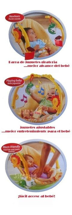 Silla Mecedora Rocking Musica Y Vibra! Fisher Price Jiujim en internet