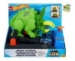 Ataque De Triceratops | City Hot Wheels | Mattel |