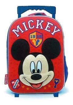 Mochila C/carro 12´ Ideal Jardin Infantil 3d Mickey
