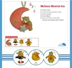 Muñeco Peluche Musical De Tira Love 4040 Animal - Jiujim