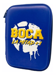 Cartuchera Escolar Rigida Eva Oficial Boca Juniors