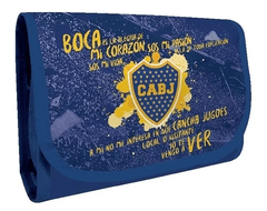 Cartuchera Escolar Desplegable Oficial Boca Juniors