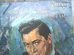 A Mario Lanza Program Never Before Released Lp Vinil Import.