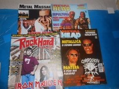 Revistas Rock Brigade Comando Metal Head Top Rock Lote C/ 15 na internet