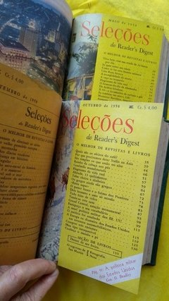 Seleções De Readers Digest Do Ano 1950 Encadernada Completa na internet