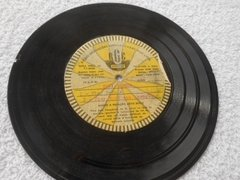 Acetato 78 Rpm Fina Singer Jingle Disco Compacto Único No Ml