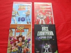 Toy Story 1 Ao 3 + Buzz Lightyear Lote 4 Dvd'S Disney Oferta
