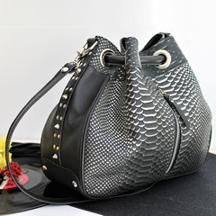 BOLSO TERRY CROCO - BLACK SHIVÁ
