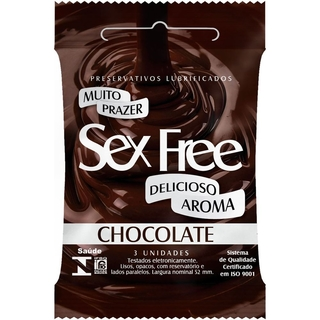 Preservativo Lubrificado Sex Free Aroma Chocolate Sex007