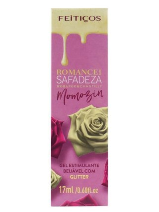 Gel Estimulante beijável Romance com Safadeza  Morango & Chantilly 17 ml.