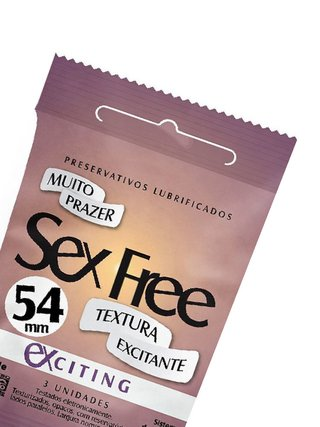 Preservativo Lubrificado Sex Free  Exciting  Textura Excitante SEX001 - comprar online