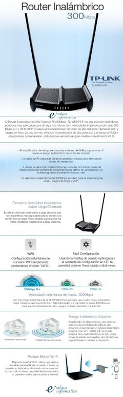Router Tp-link Wr841hp - Educa Informatica