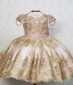 Pink and Gold Royalty Dress