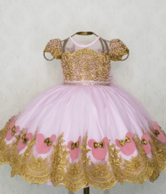 Pink and Gold Minnie Dress