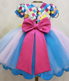 Blue Circus Ribbons Dress on internet