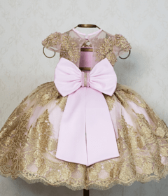 Pink and Gold Royalty Dress on internet