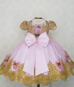 Pink and Gold Minnie Dress on internet