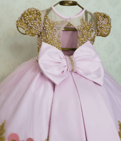 Pink and Gold Minnie Dress - Yoyó Dresses