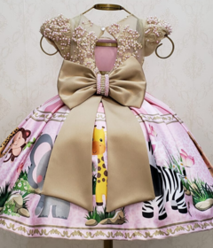 Pink and Gold Safari Custom Dress on internet