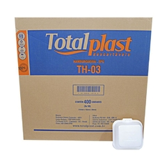 Hamburgueira de Isopor TH-03 TotalPlast 400UN