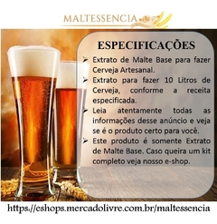 Extrato De Malte Base 1kg 1x Ipa Light 1x American Lager na internet