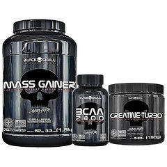 COMBO BLACK SKULL MASS GAINER 1.5KG + BCAA 2400 120 CAPS + CREATINA TURBO 150G