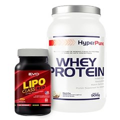 COMBO HP BASIC GYN WHEY PROTEIN 900G + LIPO CLASS RED 420MG 60 CAPS na internet