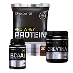 COMBO PRO WHEY PROTEIN 500G + CREATINA MICRONIZADA 100G + BCAA PLUS 120 CAPS - comprar online