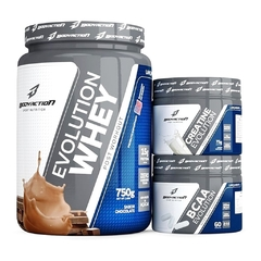 COMBO WHEY EVOLUTION 750G + CREATINA EVOLUTION 75G + BCAA EVOLUTION 60 CAPS