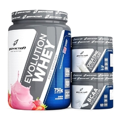 COMBO WHEY EVOLUTION 750G + CREATINA EVOLUTION 75G + BCAA EVOLUTION 60 CAPS - comprar online
