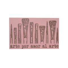 Sello Alto relieve AR L 09 - Por amor al arte - Azul