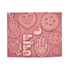 Sello Relieve Accesorios Lila - Amor - Azul