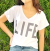Remera escote V Life (Outlet)