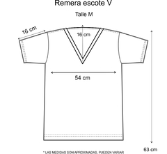 Remera escote V Doble Corazón Negro en internet