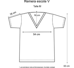 Remera escote V Happy flores (Outlet) en internet