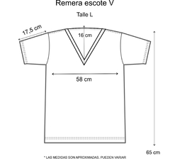 Remera escote V Love - Pura alegría
