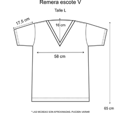 Remera escote V Be Wild (Outlet) - Pura alegría