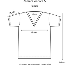 Remera escote V Perfectly imperfect plateado (Outlet) - comprar online