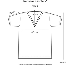 Remera escote V Protection Eye Gris - comprar online