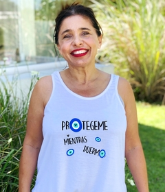 Musculosa Protegeme mientras duermo